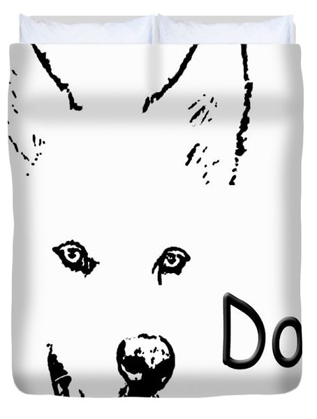 Dog Diva Duvet Cover