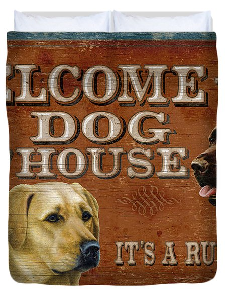 Dog House Duvet Cover