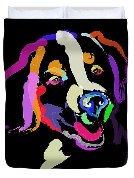 Dog Iggy Color Me Bright Duvet Cover