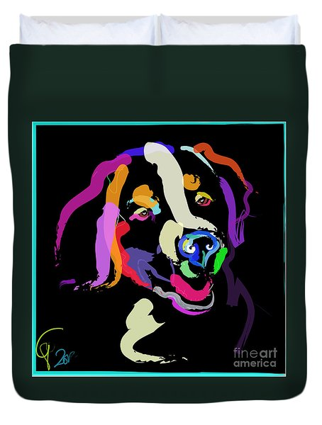 Dog Iggy Color Me Bright Duvet Cover