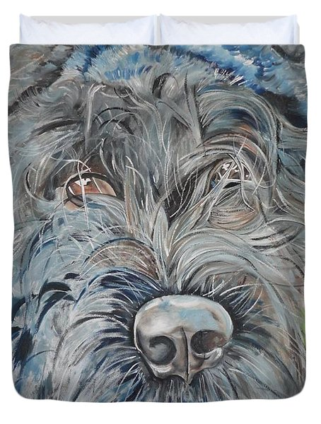 Dog Of Flanders The Bouvier Duvet Cover by PainterArtist FIN