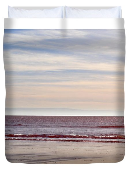 Dog On The Beach Duvet Cover