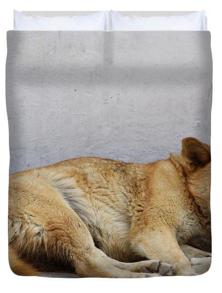 Dog Sleeping Duvet Cover