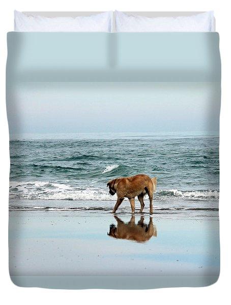 Dog Walking Duvet Cover by Cynthia Guinn