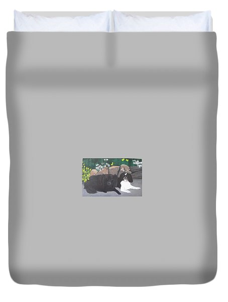 Dogs Daisy And Buttons Duvet Cover