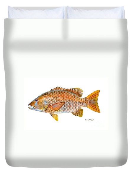 Dogtooth Snapper Duvet Cover by Carey Chen