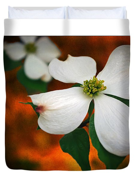 Dogwood Blossom Duvet Cover by Brian Wallace