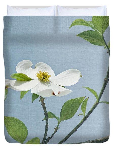 Dogwood Blossoms Duvet Cover by Kim Hojnacki