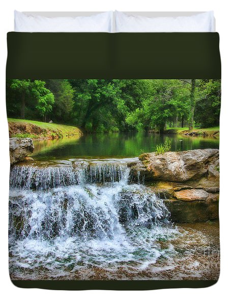 Dogwood Canyon Falls Duvet Cover