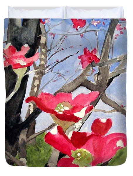 Dogwood Flowers Duvet Cover