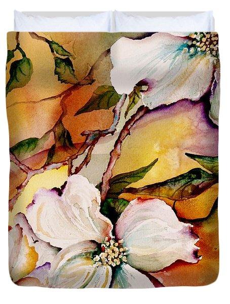 Dogwood In Spring Colors Duvet Cover
