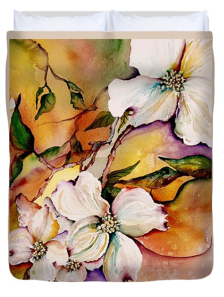 Dogwood In Spring Colors Duvet Cover