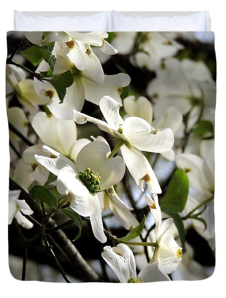 Dogwoods In The Spring Duvet Cover