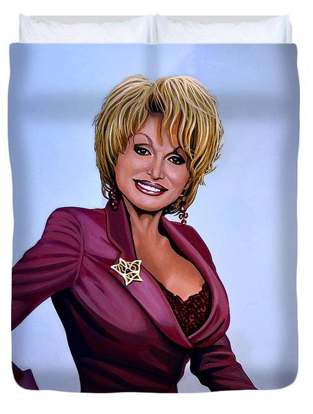 Dolly Parton Duvet Cover by Paul Meijering