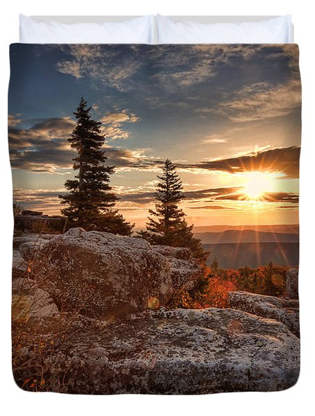 Dolly Sods Morning Duvet Cover