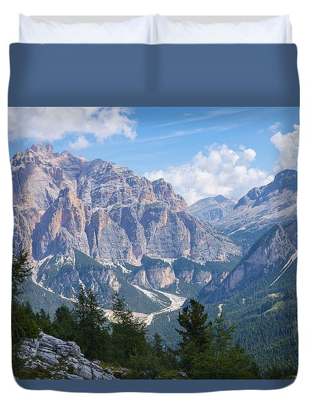 Dolomite Mountain View Duvet Cover