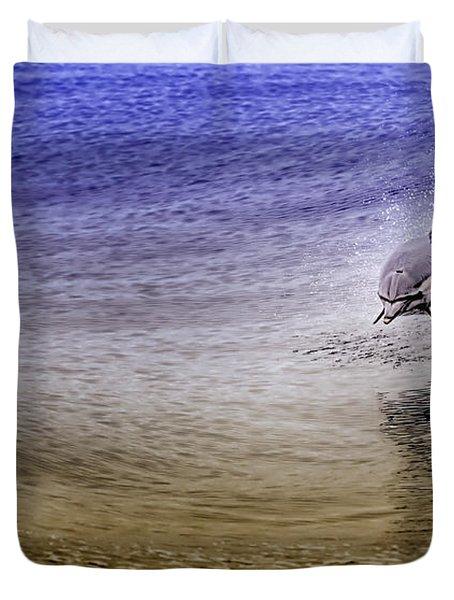 Dolphin Jumping Duvet Cover
