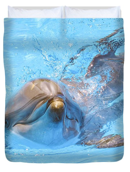 Dolphin Swimming Duvet Cover