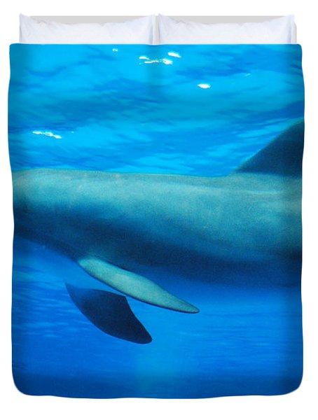 Dolphin Underwater Duvet Cover by DejaVu Designs