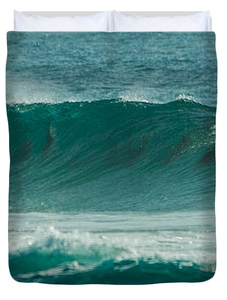Dolphins In Wave 10 Duvet Cover