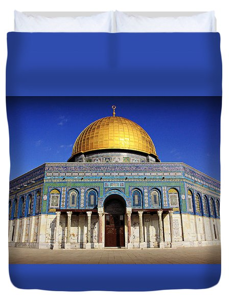 Dome Of The Rock Duvet Cover by Stephen Stookey