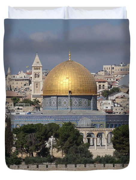 Dome On The Rock  Duvet Cover