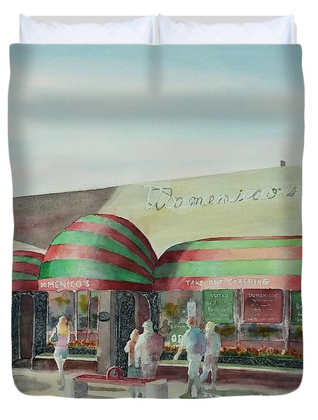 Domenicos In Long Beach Duvet Cover