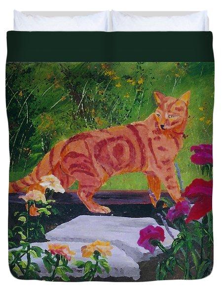 Domestic Tiger Duvet Cover