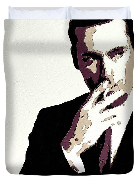 Don Draper Poster Art Duvet Cover