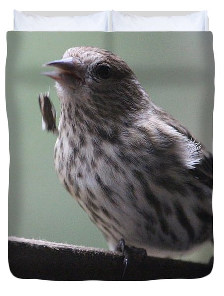 Done Eating That Seed Duvet Cover by Kym Backland