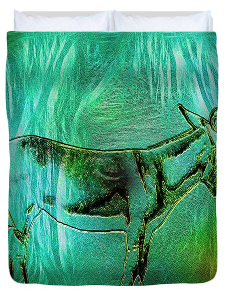 Donkey-featured In Nature Photography Group Duvet Cover by EricaMaxine  Price