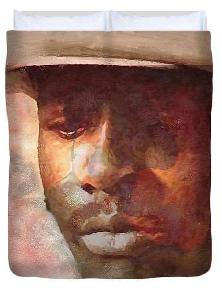 Donny Hathaway Duvet Cover by Vannetta Ferguson