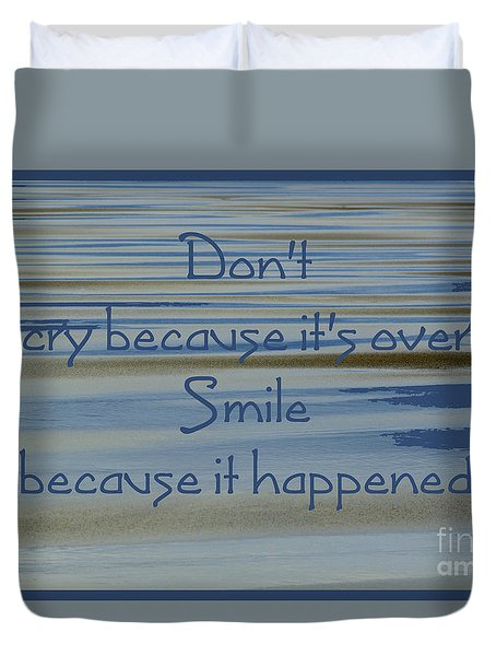Don't Cry.....1 Duvet Cover by Wendy Wilton