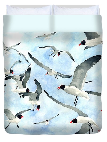 Don't Feed The Seagulls Duvet Cover