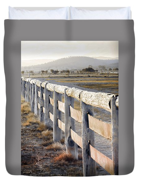Duvet Cover featuring the photograph Don't Fence Me In by Holly Kempe