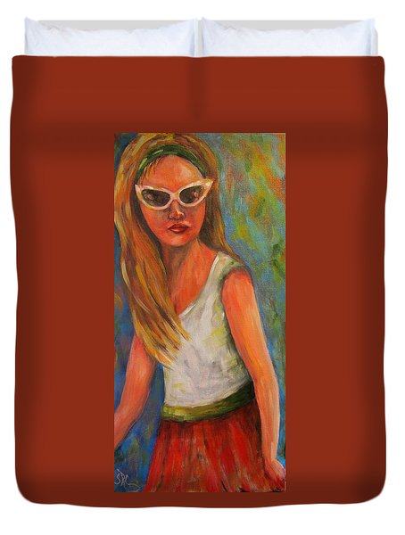 Don't I Know You? Girl Duvet Cover