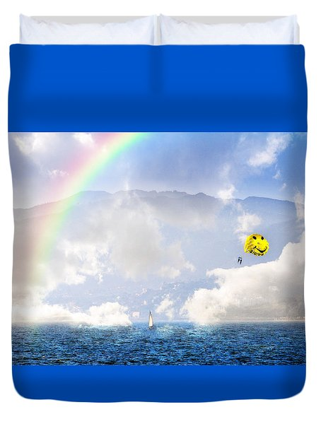 Dont Worry Be Happy Duvet Cover