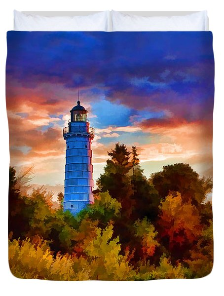Door County Cana Island Wisp Duvet Cover by Christopher Arndt