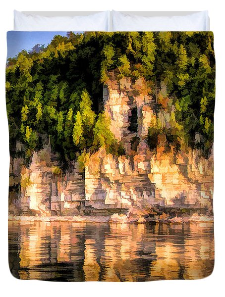 Door County Ellison Bay Bluff Duvet Cover