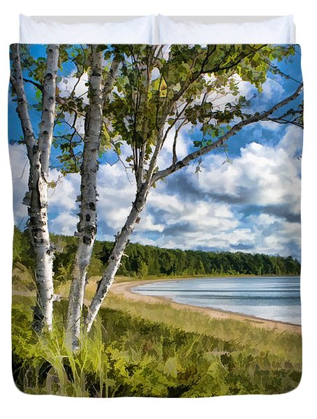 Door County Europe Bay Birch Duvet Cover by Christopher Arndt