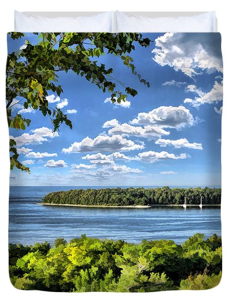 Door County Horseshoe Island Duvet Cover