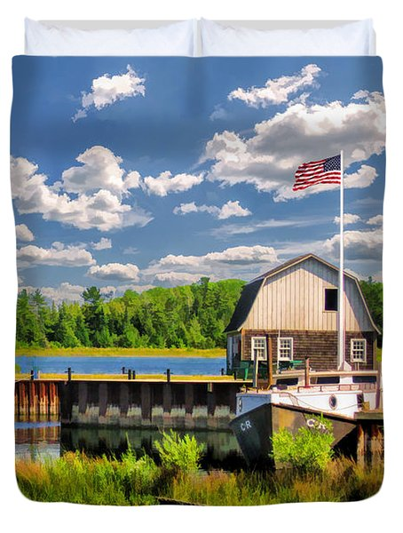 Door County Washington Island Jackson Harbor Duvet Cover