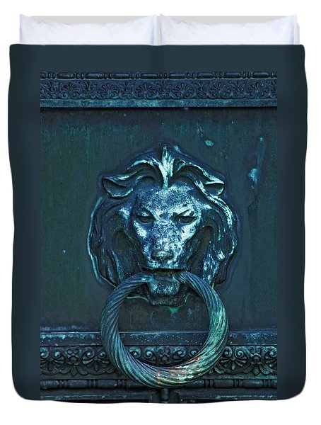 Door Knocker Duvet Cover