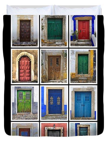 Doors Of Portugal Duvet Cover