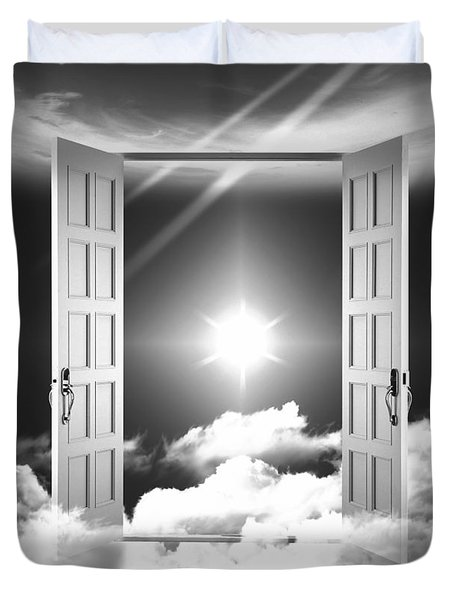Doors To Paradise Duvet Cover by Stefano Senise