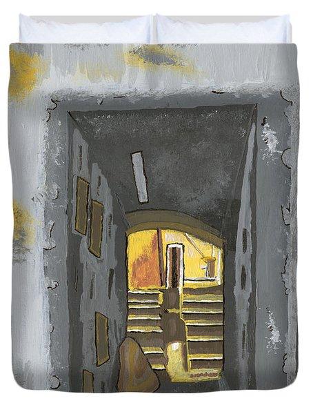 Doorway In Cinque Terra Duvet Cover