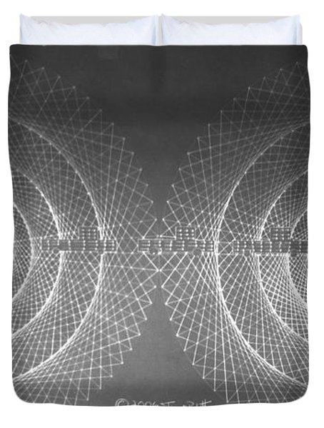 Doppler Effect Parallel Universes Duvet Cover