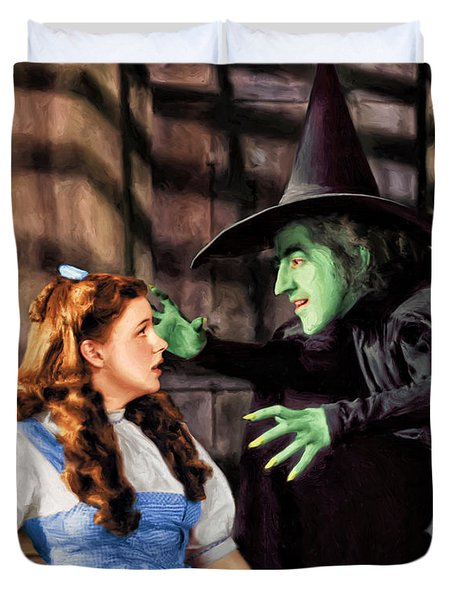 Dorothy And The Wicked Witch Duvet Cover