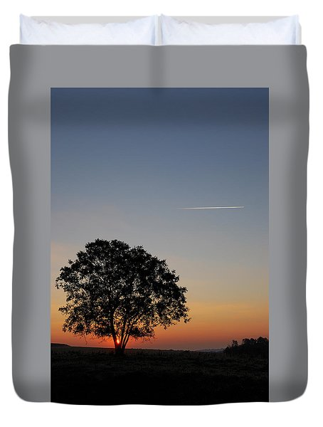 Duvet Cover featuring the photograph Dorset Dawn by Wendy Wilton