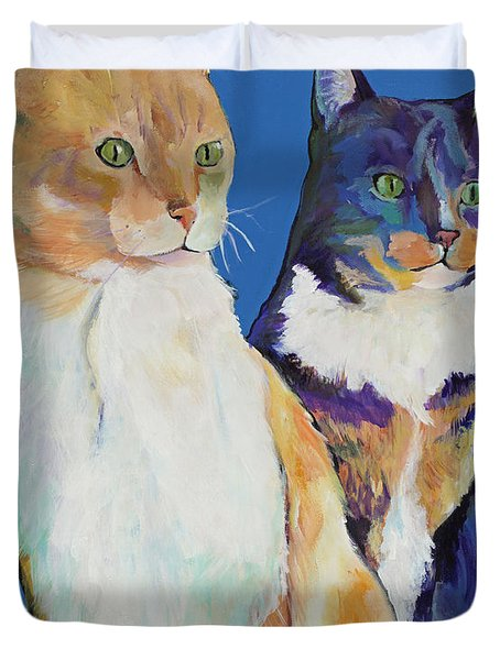 Dos Amores Duvet Cover by Pat Saunders-White